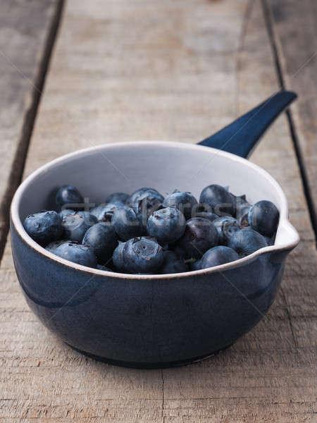 Organikus áfonya rusztikus tál friss kék Stock fotó © andreasberheide