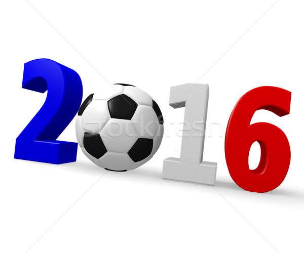 Futebol campeonato França europeu 2016 3D Foto stock © andreasberheide
