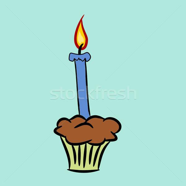 Cartoon birthday candle Stock photo © andreasberheide