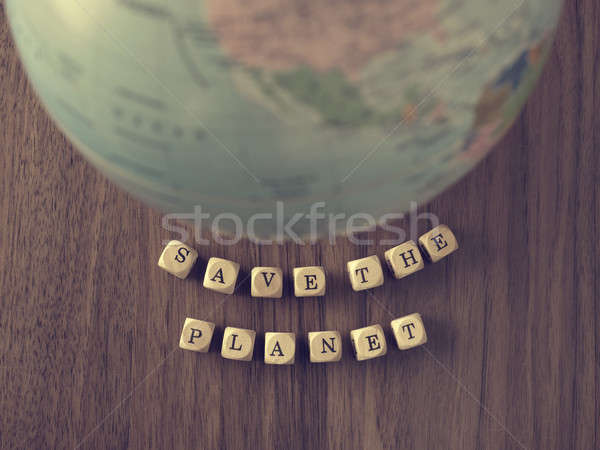 Save the planet Stock photo © andreasberheide