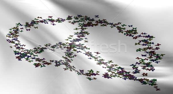 White flag with peace symbol Stock photo © andreasberheide