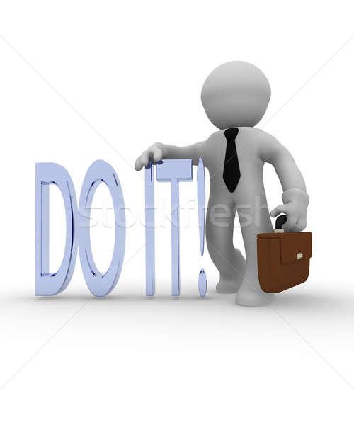 Stock photo: Do it!