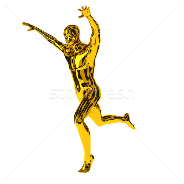 ランナー 腕 受賞 最初の場所 3D ストックフォト © andreasberheide