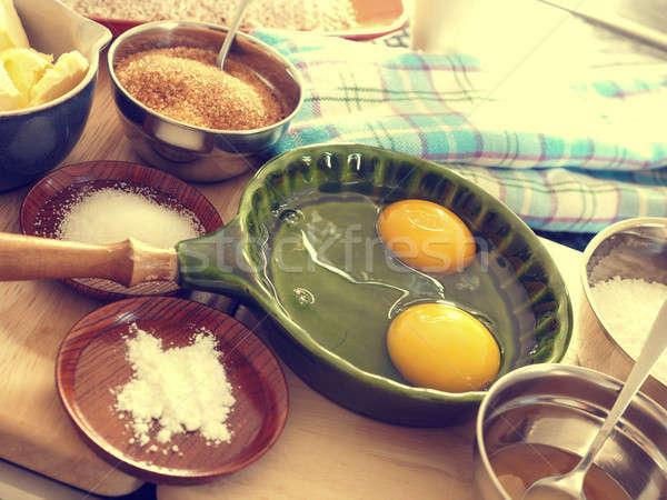Organic baking ingredients Stock photo © andreasberheide