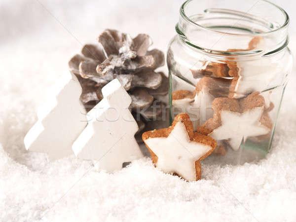 Рождества снега сезонный небе вечеринка аннотация Сток-фото © andreasberheide