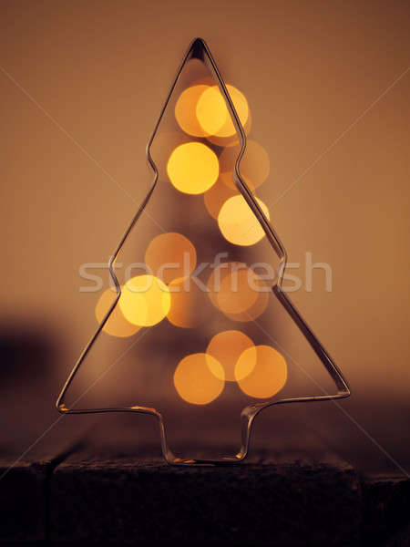 Christmas background with blurred lights Stock photo © andreasberheide