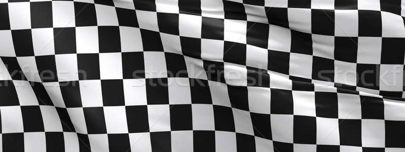 Checkered flag, race flag background Stock photo © andreasberheide