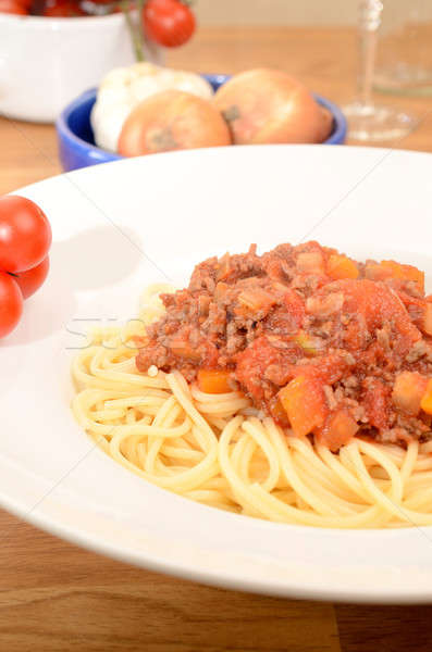 Spaghetti Bolognese Stock photo © andreasberheide