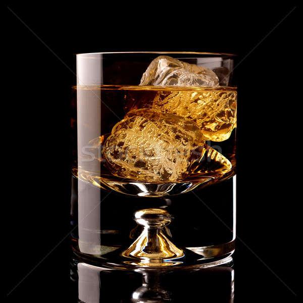 ガラス ウイスキー 黒 背景 ドリンク カクテル ストックフォト © andreasberheide