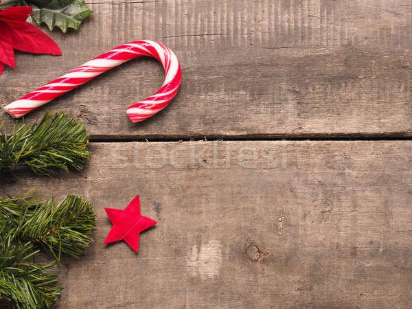 Karácsony űr szöveg dekoráció öreg fából készült Stock fotó © andreasberheide
