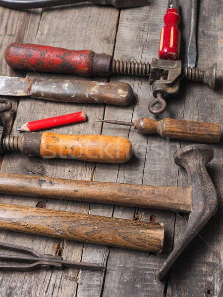 Industrial imagen edad herramientas Rusty utilizado Foto stock © andreasberheide