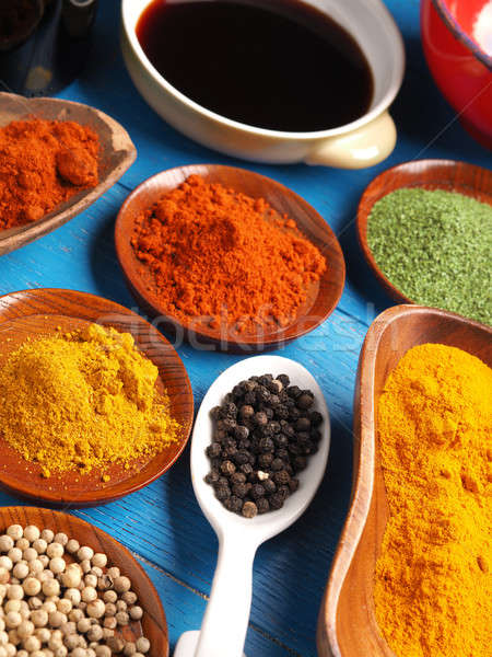 Colorful assortment of spices Stock photo © andreasberheide
