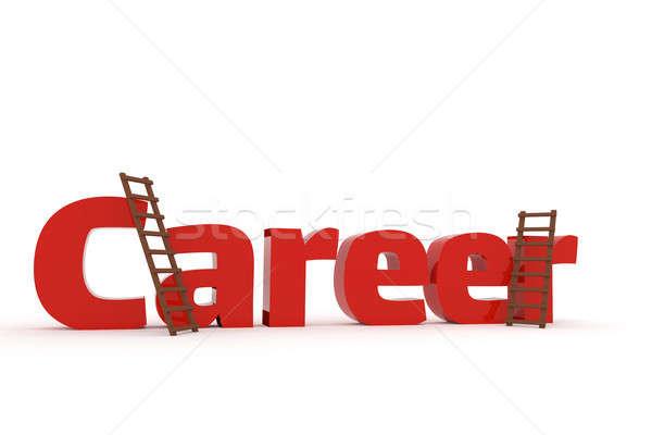 Stockfoto: 3D · woord · carriere · twee · witte · business