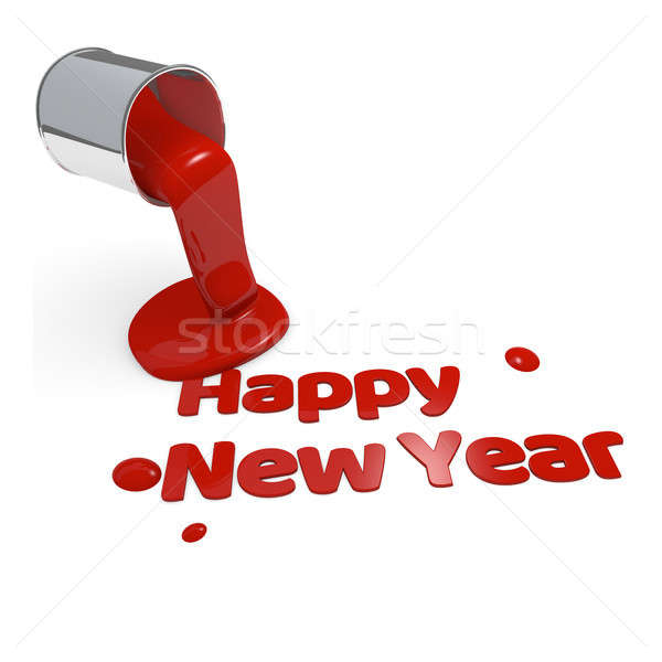 Happy New Year 3d rendering concept Stock photo © andreasberheide