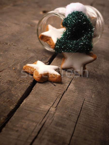 édes fahéj sütik fa asztal étel fa Stock fotó © andreasberheide