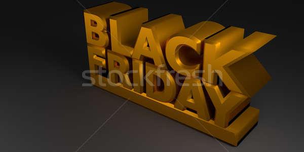 Black Friday in gold Stock photo © andreasberheide