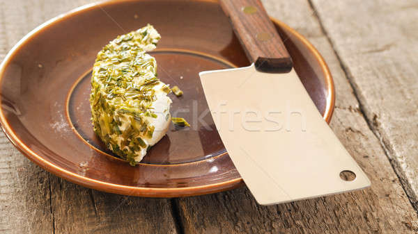 Farmer cheese with chives Stock photo © andreasberheide