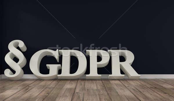 Kamer brieven algemeen gegevensbescherming regeling Stockfoto © andreasberheide