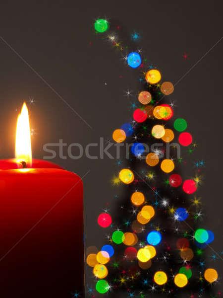 Romantic Christmas background with tree shape Stock photo © andreasberheide