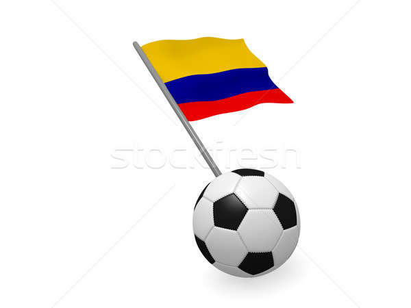 Soccer ball with the flag of Colombia Stock photo © andreasberheide