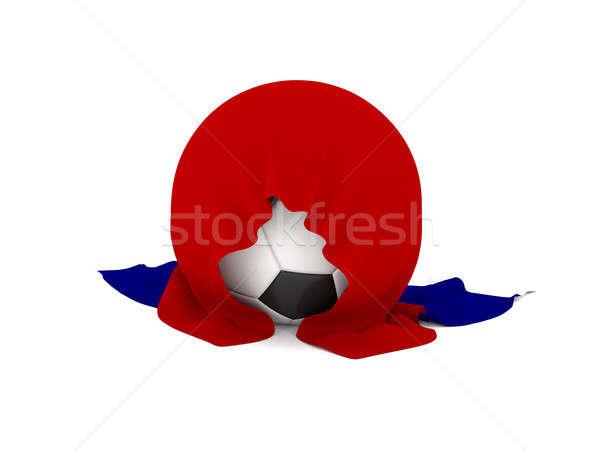 Soccer ball russo bandiera calcio campionato 3D Foto d'archivio © andreasberheide