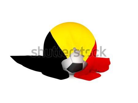 Futbol topu bayrak Belçika futbol şampiyonluk 3D Stok fotoğraf © andreasberheide