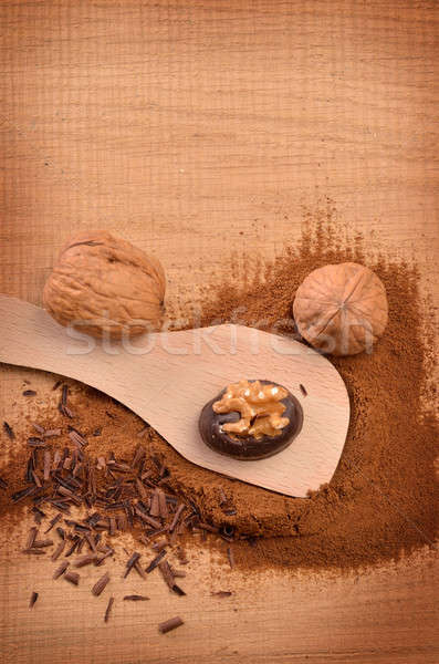 Chocolate with walnuts Stock photo © andreasberheide