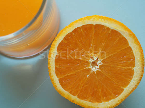 Oranje vruchten sinaasappelsap half glas gezonde voeding drinken Stockfoto © andreasberheide