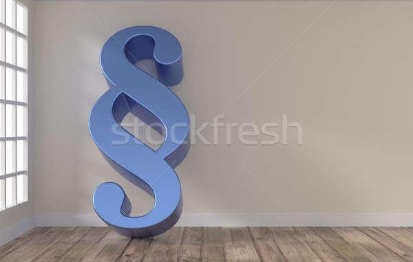 Szoba nagy bekezdés ikon fényes kék Stock fotó © andreasberheide