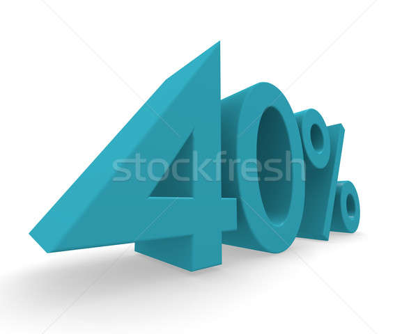 40 percent 3d rendering Stock photo © andreasberheide