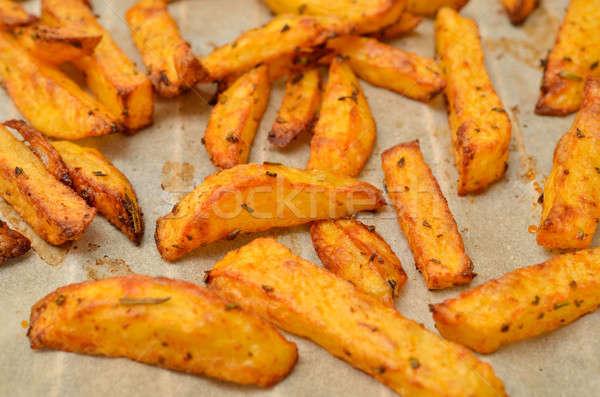 Aardappel voedsel witte land plantaardige Geel Stockfoto © andreasberheide