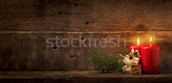 Two Advent candles Stock photo © andreasberheide