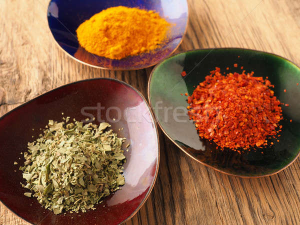 Assortment of spices Stock photo © andreasberheide