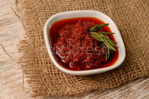 Rojo pesto rústico cocina decoración alimentos Foto stock © andreasberheide