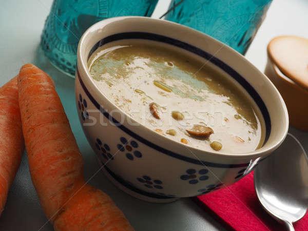 Traditional organic soup of peas Stock photo © andreasberheide