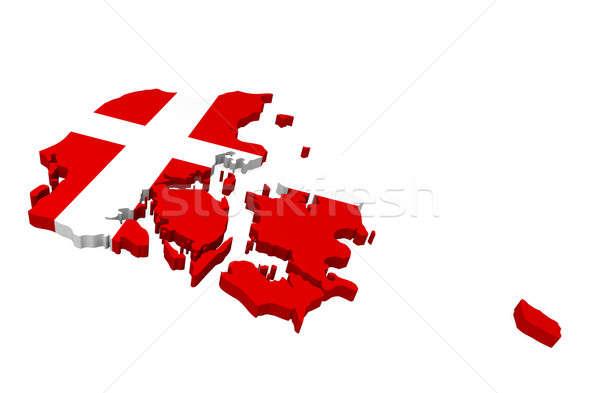 Map of Denmark Stock photo © andreasberheide