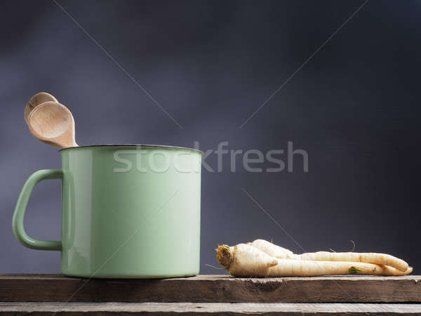 Parsley root on a wooden table Stock photo © andreasberheide