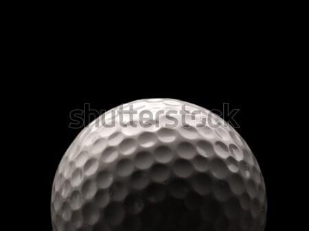 Közelkép golflabda használt sötét fű golf Stock fotó © andreasberheide