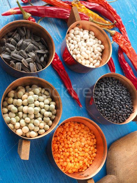Сток-фото: красочный · приготовления · Ингредиенты · продовольствие · синий