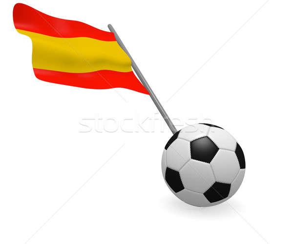 футбольным мячом флаг Испания белый Футбол команда Сток-фото © andreasberheide