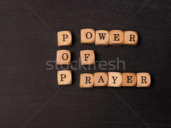 Potere preghiera religione parole amore pregare Foto d'archivio © andreasberheide