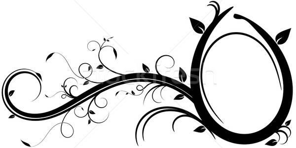 Ovaal frame ontwerp communie Stockfoto © andreasberheide