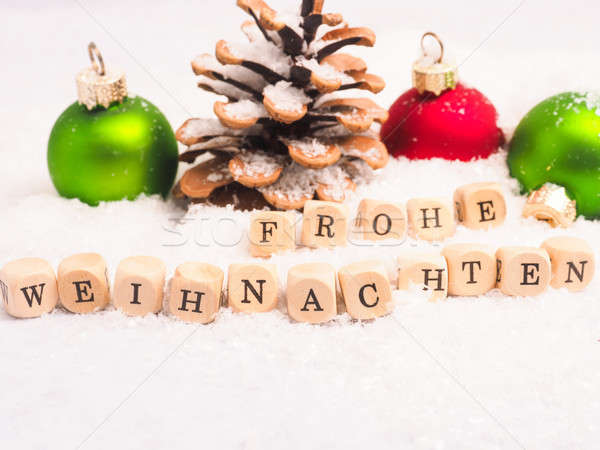 German Merry Christmas background Stock photo © andreasberheide
