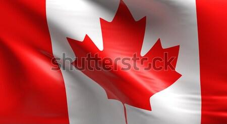 флаг Канада 3D дизайна фон Сток-фото © andreasberheide