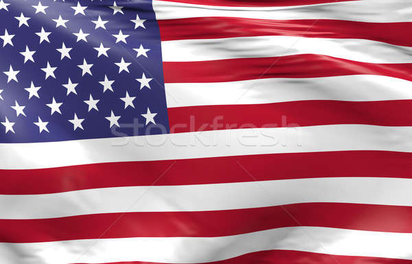 Waving flag of the United States of America Stock photo © andreasberheide