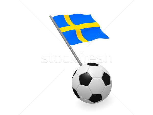 Futballabda zászló Svédország futball bajnokság 3D Stock fotó © andreasberheide