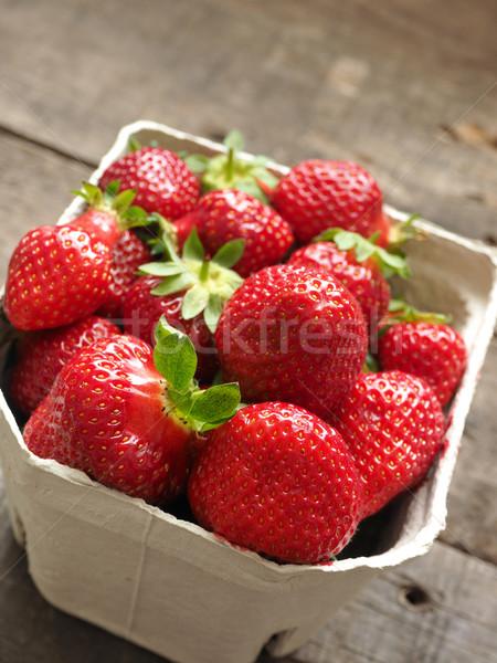 Organisch aardbeien vers selectieve aandacht voorgrond Stockfoto © andreasberheide