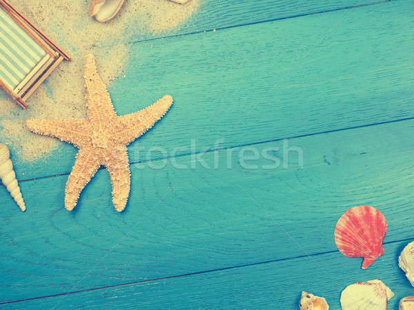 Vacation background in vintage toned colors Stock photo © andreasberheide