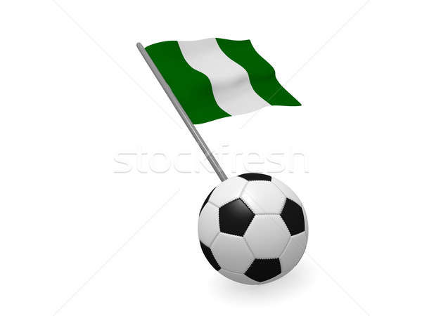 Futebol bandeira Nigéria futebol campeonato 3D Foto stock © andreasberheide