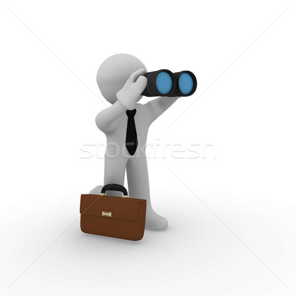 Business man with binoculars Stock photo © andreasberheide
